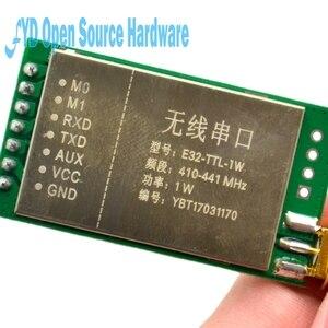 Image 3 - E32 TTL 1W 7500m 1W SX1276 לורה 433MHz ארוך טווח 7500m RF משדר מודול 433M לורה עם אנטנה
