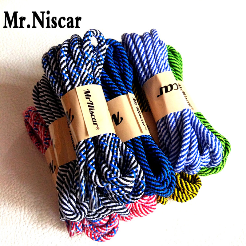Mr.Niscar 2 Pair Brand Shoelaces Shoestring Round Hiking Walking Camping Colour Striped Shoe Laces String Skate Boots Bootlaces argo 112 omega