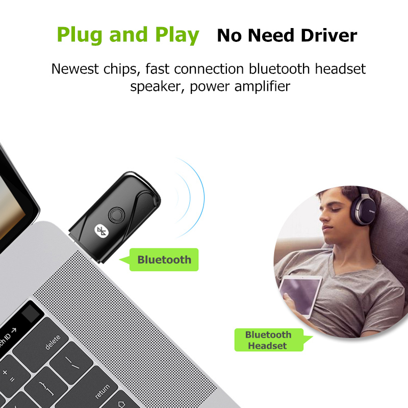 Image 2 - Wireless Usb Bluetooth Adapter For Computer Wireless Headset Bluetooth Speaker Csr 4.2 Free Driver Bluetooth Dongle/Receiver-in Satellite TV Receiver from Consumer Electronics