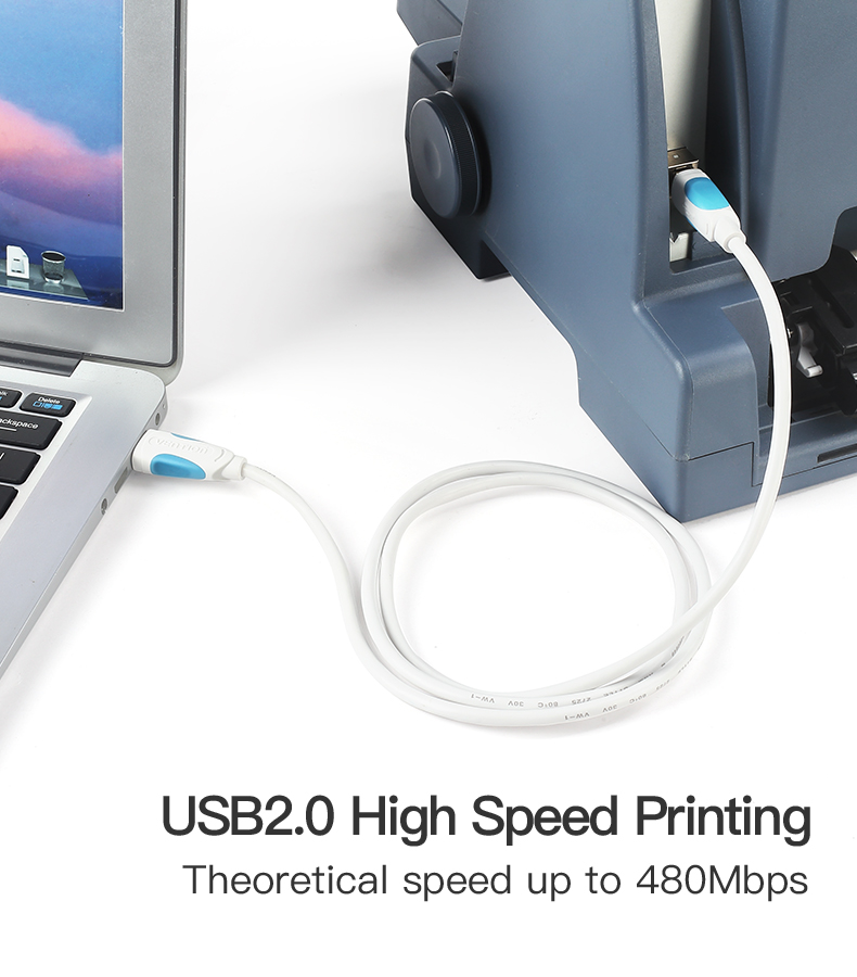 Vention USB 2.0 Type A Male To B Male Cable To Sync Data In Scanner And USB Printer 3