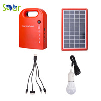 Portable Large Capacity Garden Solar Power Bank Panel 2 LED Lamp Male Female USB Cable Battery