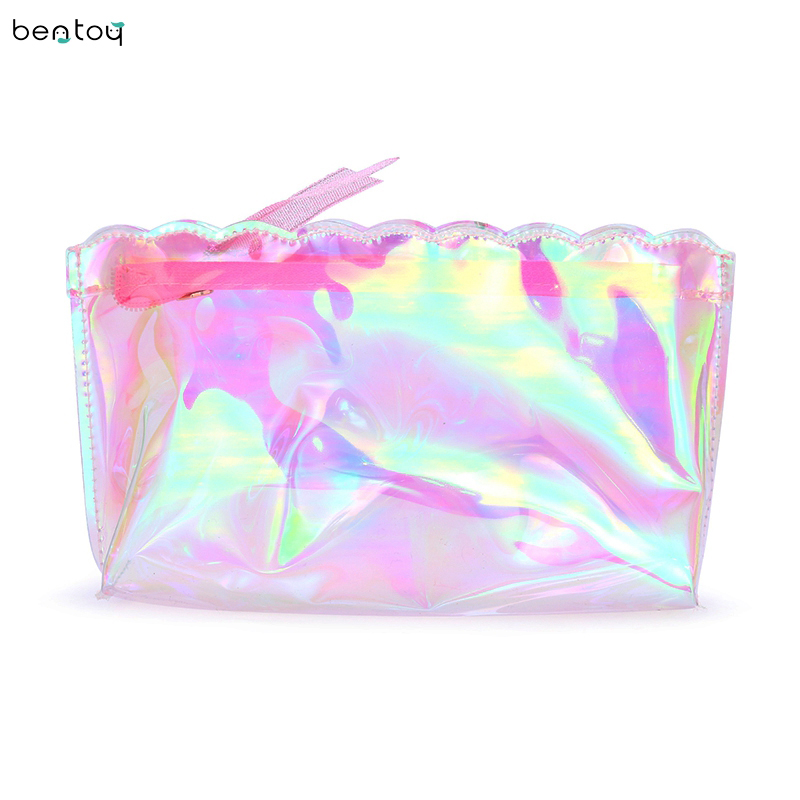 2018 Cute Women Clutches Handbags PVC Summer Travel Wash Toiletry Storage Bag Makeup Organizer Case Beauty Bags Make UP Pouch