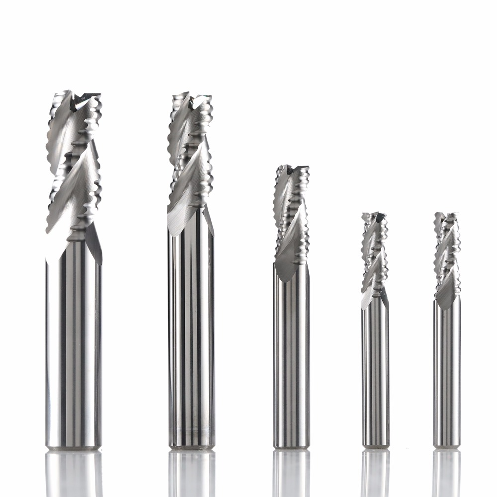 Grey T-Slot Milling Cutter Straight End mill Metalworking CNC 6 flutes 1pc