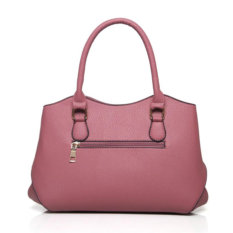 8cf608306ab9 Women s Handbags 3 pcs set Purse Tote Bag Bag Ladies Shoulder Bags PU Women  Leather bag Top Handle Handbag-in Shoulder Bags from Luggage   Bags on ...