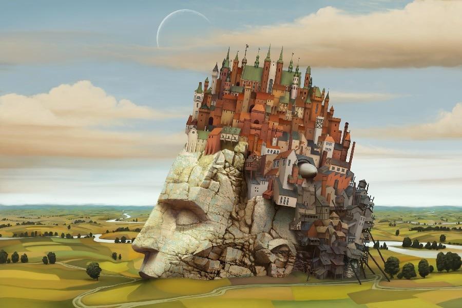Landschaftsmalerei surrealismus  Online Kaufen Großhandel surreal landschaften aus China surreal ...