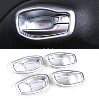 Inside Door Handle Bowl Cup Cover Trim 4pcs ABS Matt for Jeep Renegade 2015 2016