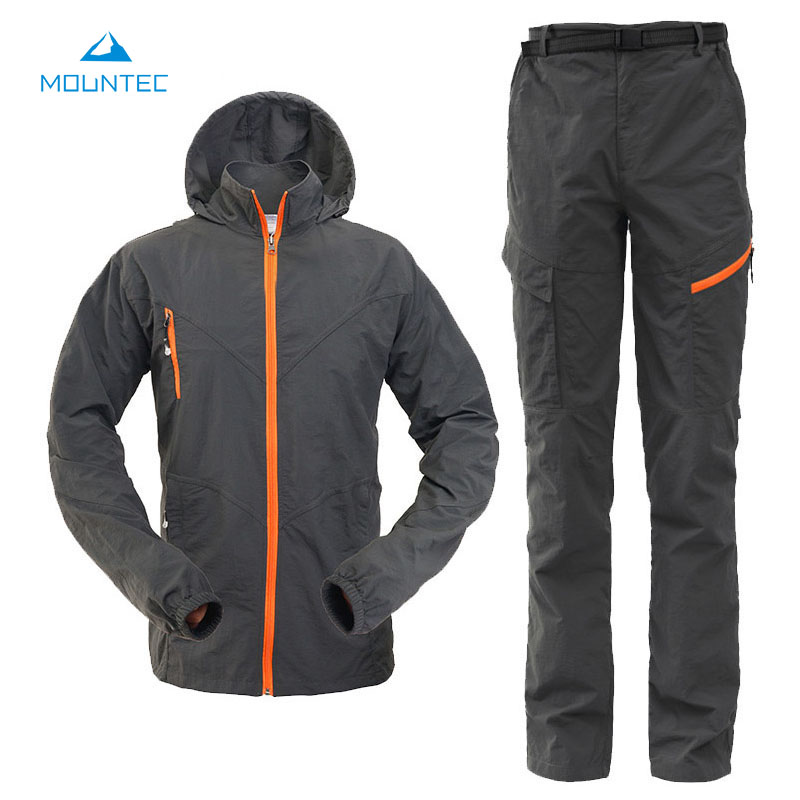 MOUNTEC Camping Hiking Clothing Outdoor Sport Hiking Jacket Set Quick Dry Breathable Sportswear Outdoor Sports Suit quick dry female jacket men s windbreakers women sportswear outdoor camping mountaineering jacket hiking clothes