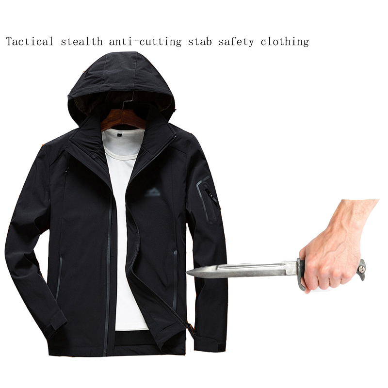Self-defense Anti-cutting Stab Fashion Casual Jacket Fbi Military Tactical Invisible Soft Safety Politie Kleding Tactico Policia