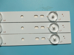 Image 5 - 20 sztuk x 32 cal aluminiowa płyta listwy LED w/soczewka optyczna Fliter TV Panel podświetlenie lampy długość 61.5cm darmowa wysyłka