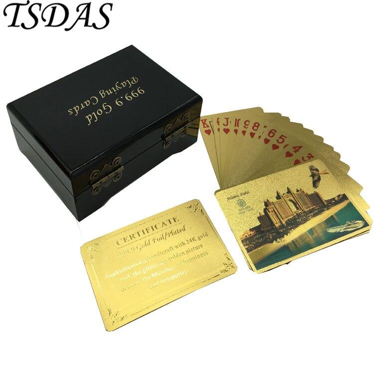 Gold Playing Card Embossed Atlantis Dubai Buildings Dubai