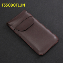 FSSOBOTLUN,For Samsung Galaxy s8 s9 + note10+ NOTE 9 note 8 Pouch Sleeve Holster Handmade Full Protective Case Bag With Lid