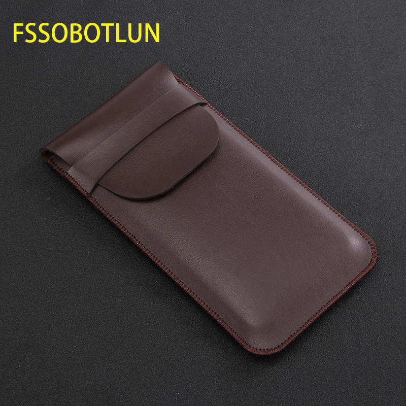 FSSOBOTLUN,For Leagoo M11/m9 Pro Phone Case Sleeve Pouch Bag For Leagoo Z10/XRover C/S11 Protective Leather Cover Handmade Case