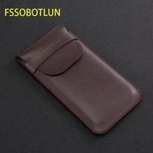 FSSOBOTLUN, สำหรับ Samsung Galaxy s8 s9 + note10 + หมายเหตุ 9 หมายเหตุ 8 กระเป๋า Holster Handmade ป้องกันกระเป๋าพร้อมฝาปิด