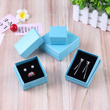 Ziris Gift Box 12 Pcs/Lot Wholesale Aquamarine Kraft Paper Favour Boxes Fashion Design Bulk Necklace Ring Bracelet Jewelry