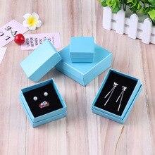 цена на Ziris Gift Box 12 Pcs/Lot Wholesale Aquamarine Kraft Paper Favour Boxes Fashion Design Bulk Necklace Ring Bracelet Jewelry Box