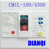 CM1L 100 4300 MCCB 20A 32A 40A 63A 80A 100A Molded Case Circuit Breaker CM1L 100