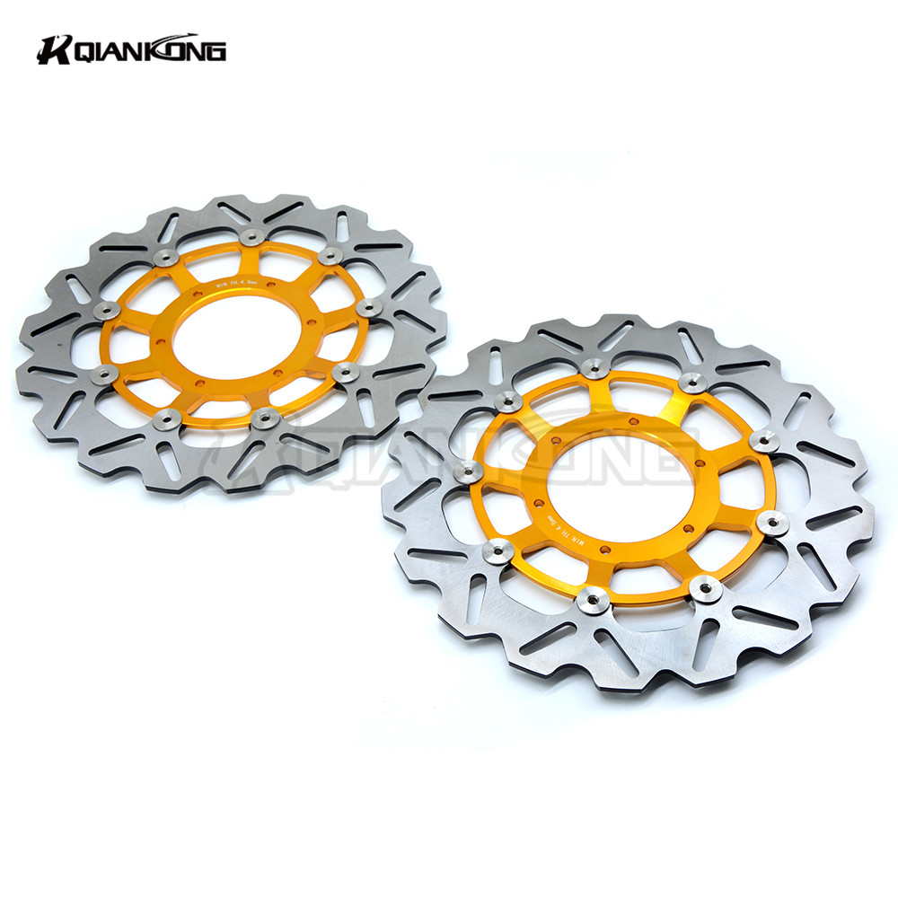 New high quality 2 pieces of  motorcycle Front Brake Discs Rotor for HONDA cbr600 CBR600 RR 2007 2008 2009 2010 2011 2012 2013 new arrival 2 pieces motorcycle accessories front brake discs rotor for suzuki gsf650 bandit abs non 2007 2008 2009