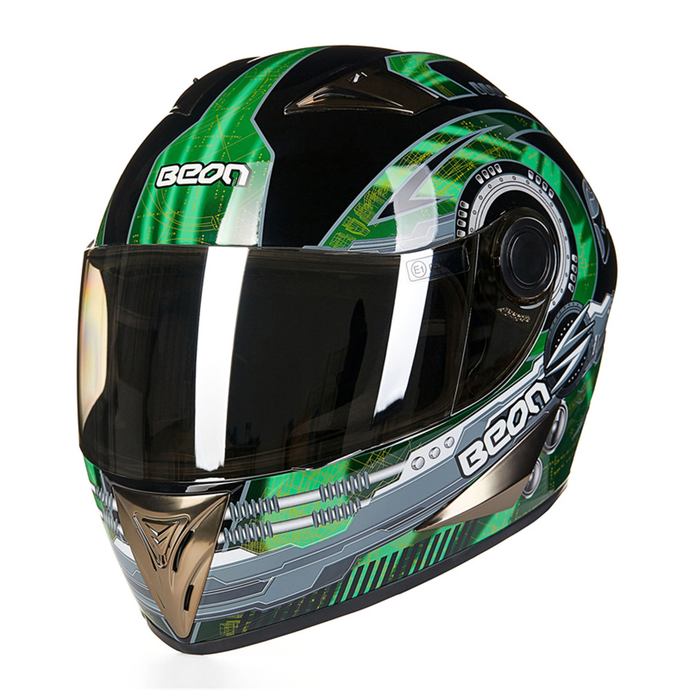 New Motorcycle Helmet Racing Full Face Helmet Carting Moto Casque Casco motocicleta Capacete Kask helmets Chrome Visor M L XL 2017 new ece certification ls2 motocross motorcycle helmet ff352 full face motorbike helmets made of abs and pc silver decadent