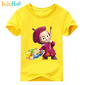Jiuhehall Retail ! Cartoon Masha Pattern Boy Girl T-Shirts Summer Short Sleeve Kids Clothes Cotton O-Neck Children Tops ACM151