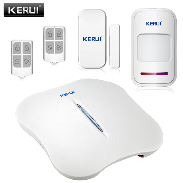 Special Offers KERUI W1 WIFI Home Burglar Alarm Systems Security Home PSTN WIFI Home Alarm PIR Sensor Smoke Detector Phone APP Remote Alarm Kit