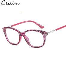 20d01f04f Lente clara Óculos de Armação Mulheres Óculos Ópticos Armações de óculos  Míopes 2018 Nova Moda Feminina