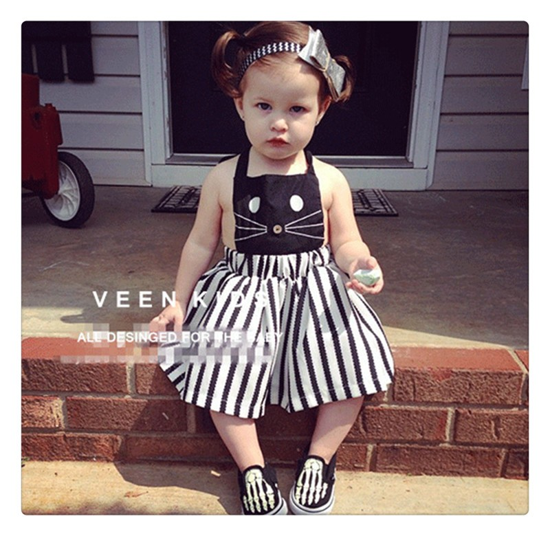 2016 Summer Sleeveless Girls Clothes Dress (15)