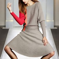 Milan Runway Designer New Fashion High Quality 2019 Spring Party Long Sleeve Sweater Half Skirt Elegant Chic Women'S Sets