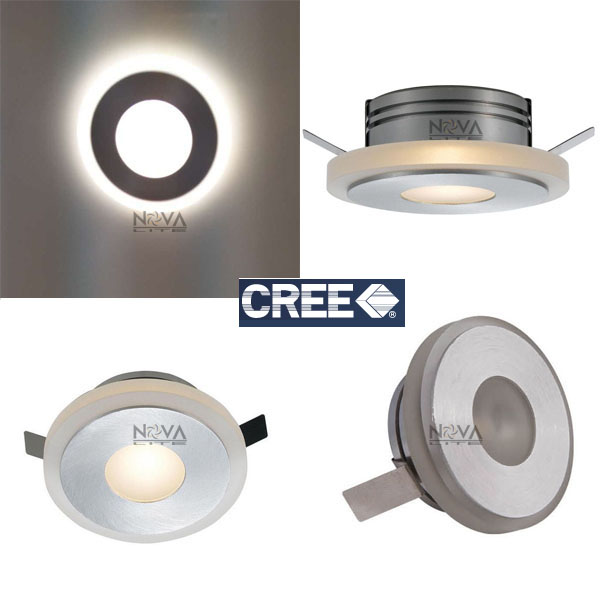 Canned Ceiling Lights Basement Stairs: 12pcs LIMA Recessed Wall Light, 3W Indoor IP44 Ceiling