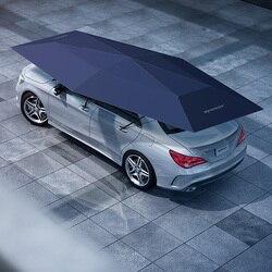 4,2 м Автоматические Внешние аксессуары для автомобиля с беспроводным пультом дистанционного управления зонт для автомобиля серый синий че...