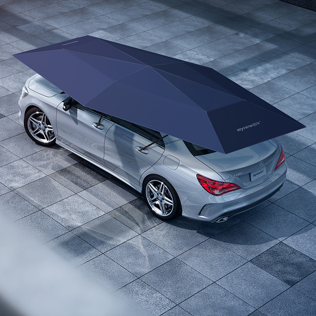 4.2M Automatic Car Exterior Accessories With Wireless Remote Controller Car Umbrella Gray Blue Black Color NEW