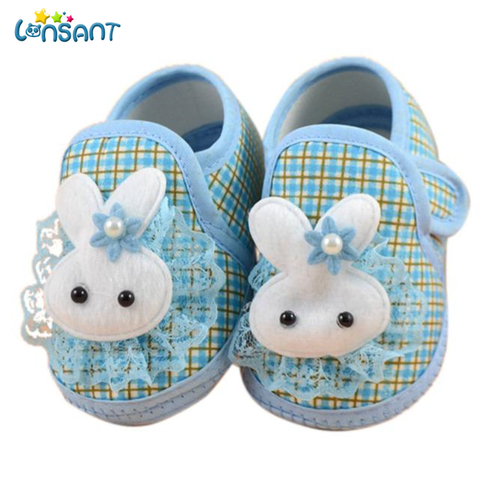 LONSANT New Hot 2018 Newborn Baby Shoes Girl Soft Sole Bowknot Cloth Crib Toddler Shoes Canvas Sneaker