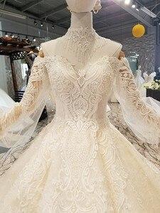 Image 4 - LS354711カウント列車の王女のウェディングドレス2018の恋人夜会服のウェディングガウン直接購入 блестящее платье