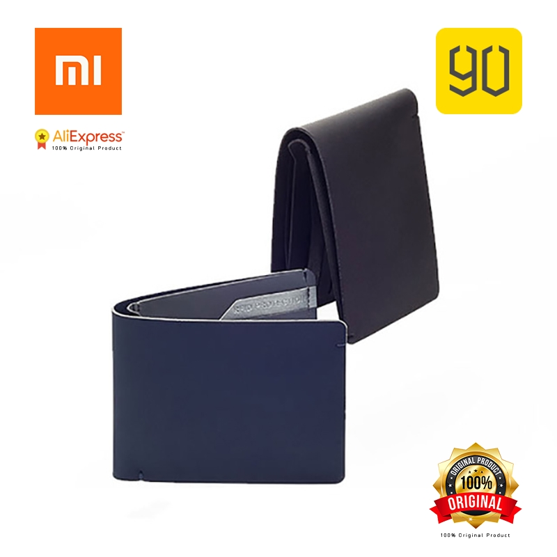 Xiaomi Original Eco-system 90FUN RFID Blocking Safe Billfold Wallet, Card Coin Holder цена и фото