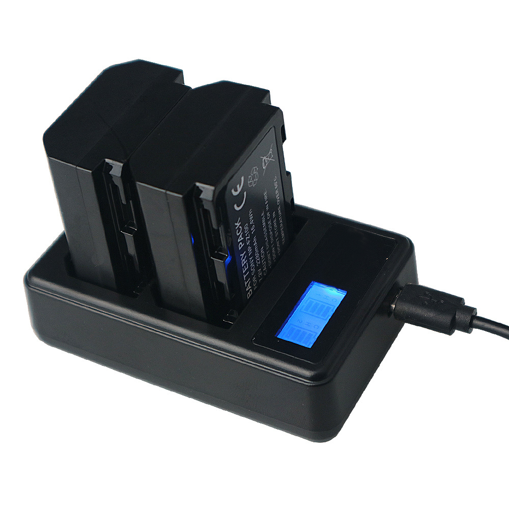 NPFZ100 np fz100 batería NP-FZ100 batería + LCD cargador para SONY ILCE-9 A7m3 a7r3 A9/A9R 7RM3 BC-QZ1 alfa 9 9 s 9R cámara Digital