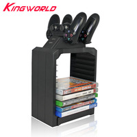 DiscStorage Multifunctional Universal Games Disc Storage Tower for Xbox One for PS4 controller with stand dock charger