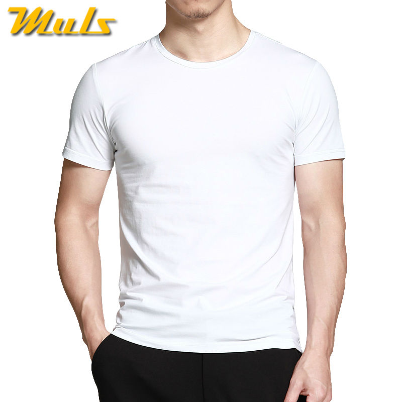 Muls brand high quality summer mens clothing cotton t for Good quality cotton t shirts