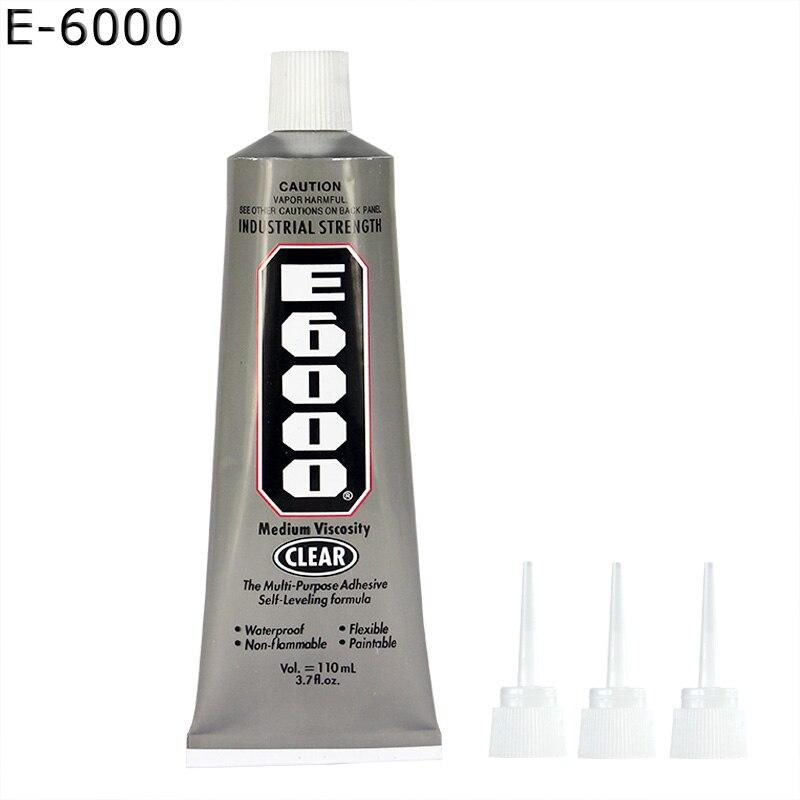 100 Genuine 10pcs E6000 Glue 110ml Self Needles Epoxy Resin Adhesive Glass Plastic Fabric Rhinestones Crafts