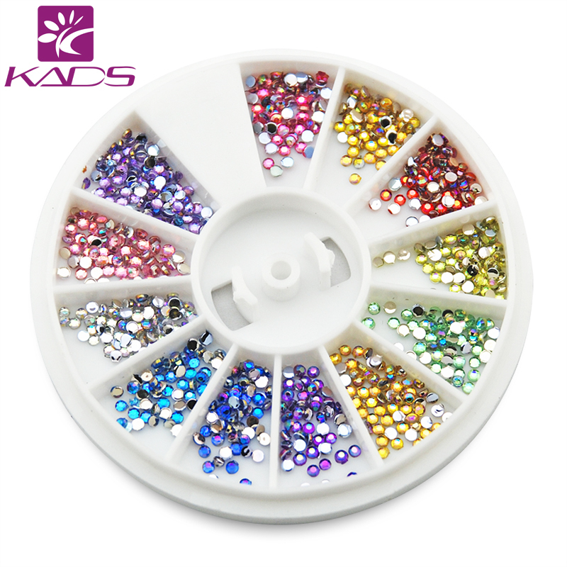 KADS Arrvial 1.5MM AB Color  600pcs 12 Colors Nail Art rhinestones Decoration For UV Gel Acrylic Systems+Freeship biutee 12 colors nail rhinestones 4mm acrylic nail art rhinestones decoration for uv gel phone laptop diy nail tools