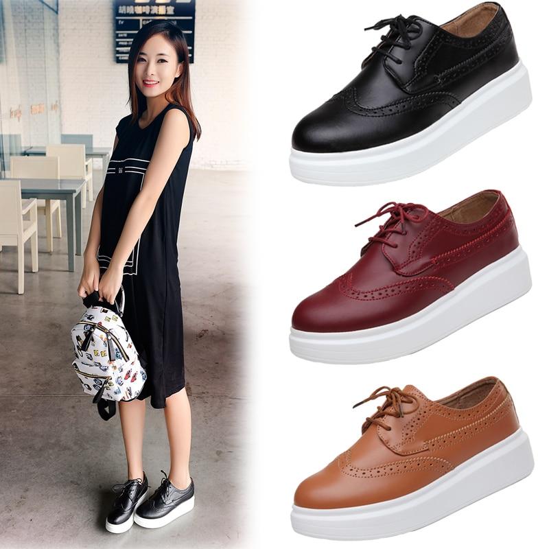 News British Style Genuine Leather Flat