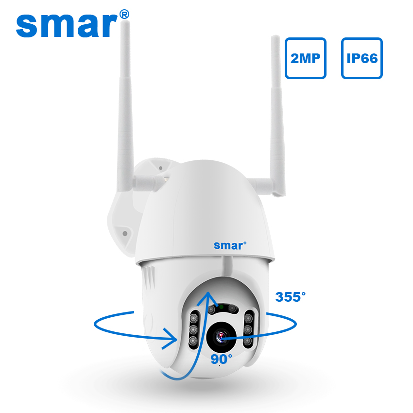 Smar WIFI Camera Outdoor PTZ IP Camera H.265X 1080p Speed CCTV Security Cameras IP Camera WIFI Exterior 2MP IR Home Surveilance