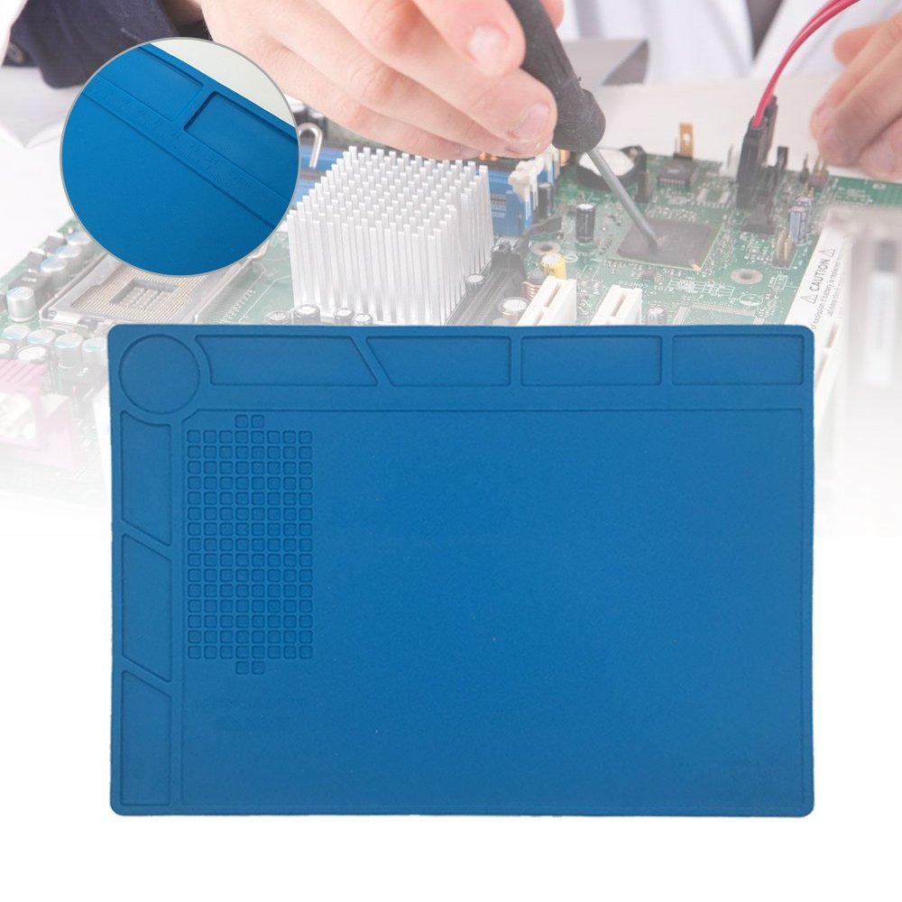 Heat Gun Phone BGA Soldering Station Insulation Silicone Pad  Desk Mat Maintenance Platform for Computer PC Repair unique disk style silicone heat insulation cup pads blue black 2 pcs