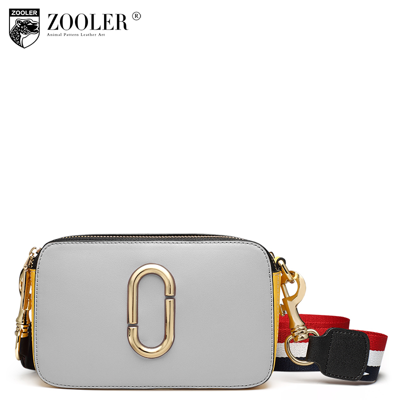 ZOOLER Brand NEW Genuine Leather shoulder bag Fashion patchwork strap Women Bag Messenger Bags Female Bolsas S-2913 new product sales zooler brand zipper cowhide bag top handle shoulder bag simply solid genuine leather bag women bag bolsas c108