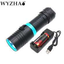 Diving light L2 LED  Diving NEW flashlight 6000 lumens Waterproof lamp submersible lamp underwater Swimming Torch Diving lights