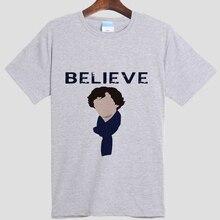 Шерлок DIY мужская с коротким рукавом хлопок круглым воротом 007 2016 из последних лучших мода досуг футболка