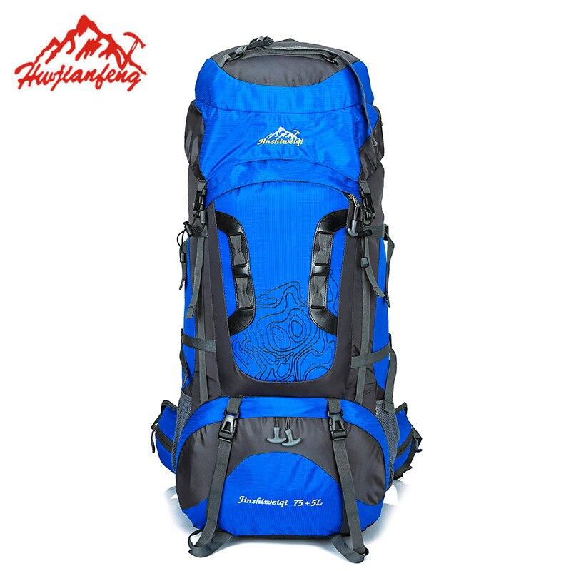 Unisex Mochila Outdoor Backpack Climbing Ski Travel Backpack Waterproof Rucksack Nylon Camping Bag Hiking 80L Backpack цена