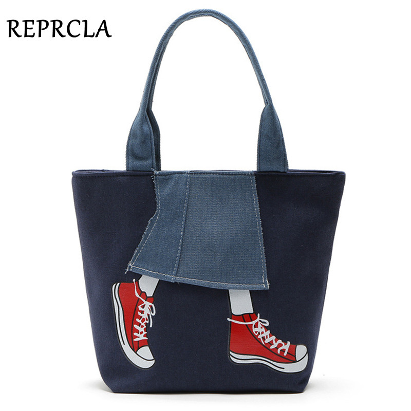 REPRCLA Large Size Women Bag High Quality Canvas Handbags Fashion Women Shopping Tote Top-handle Bags Female Shoulder Bag japanese pouch small hand carry green canvas heat preservation lunch box bag for men and women shopping mama bag