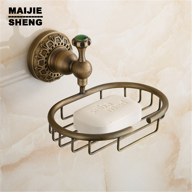 2heads 100% Copper Chrome Polished Soap Holder Copper Soap Dishes Box Bathroom Accessories Round Base Basket Femme Rilakkuma Home Improvement Bathroom Fixtures