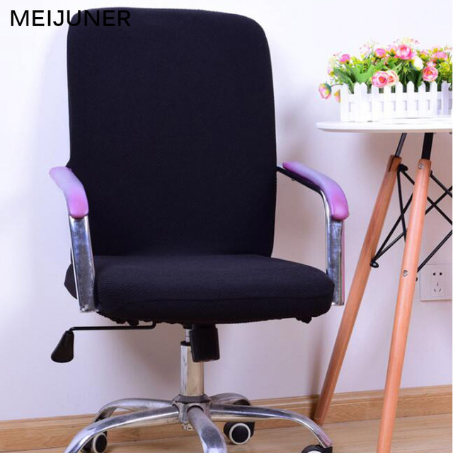 Office Armchair Covers Throughout Meijuner Office Computer Chair Cover Spandex Covers Antidust Universal Black Red Blue