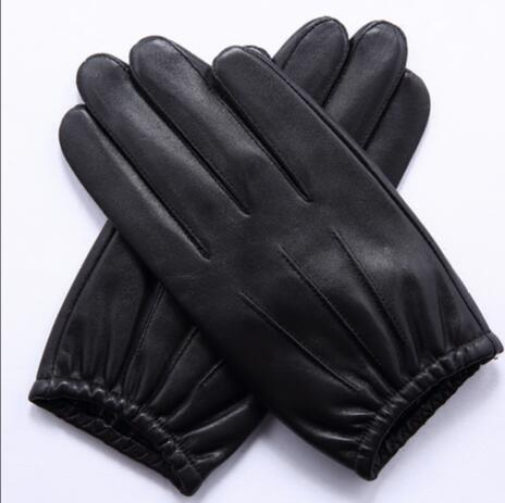 2016 new free shipping 100% Sheep Skin Touch Screen Men Gloves Classic Style Pure Genuine Leather Gloves For Winter Men's Glove