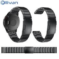 Ollivan Replacement Metal Watch Strap For Garmin Fenix 5 Stainless Steel Bracelet Watchband For Forerunner 935